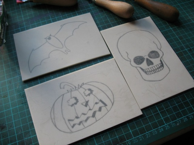 simple Hallowe'en sketches